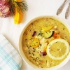 Greek Chicken Soup with Semolina