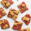 Strawberry Rhubarb Pie Squares