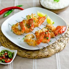 Grilled Jumbo Shrimp & Chili Dip