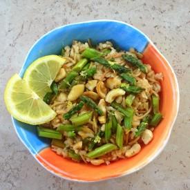 Cashew Asparagus Pilaf