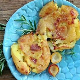 Garlic Roasted Smashed Potatoes