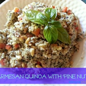 Parmesan Quinoa with Pine Nuts
