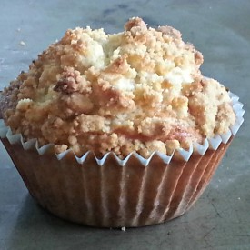 Cherry Muffin with Streusel Topping