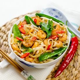 Stir Fried Noodles With Shrimp