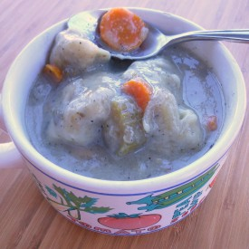 Turkey Soup & Rosemary Dumplings