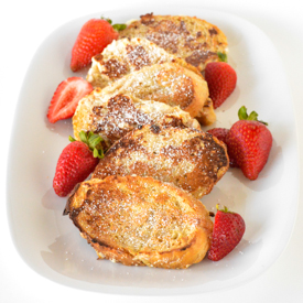 Maple Cinnamon Baked French Toast