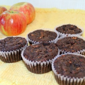 Double Chocolate Apple Muffins