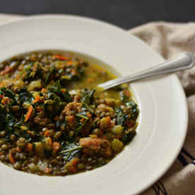 French Lentil Soup with Sausage