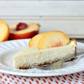 Skinny Peaches & Cream Cheesecake