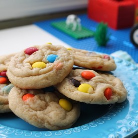 Jumbo Chewy M+M Cookies