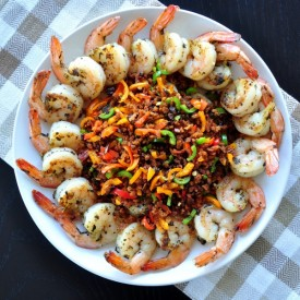 Shrimp With Pepper Topping