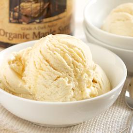 Homemade Maple Ice Cream