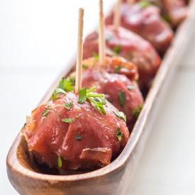 Stuffed Prosciutto Meatballs