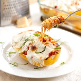 Margherita Spaghetti Squash Boats