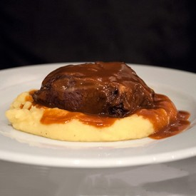 Veal's cheek with gravy