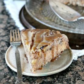 Upside Down Pear Maple &Walnut Cake