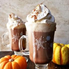 Pumpkin spiced hot chocolate