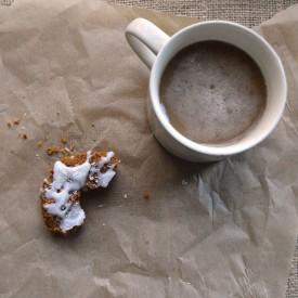 Pumpkin Donuts + Coconut Icing