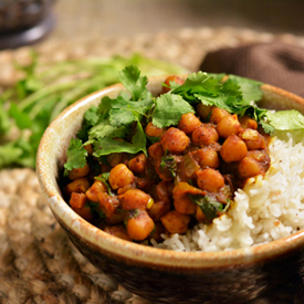 Spicy Chole (Chickpea) Curry