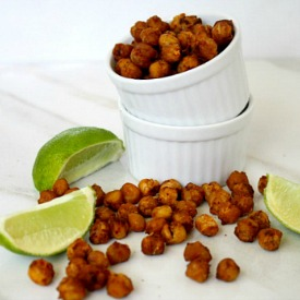 Roasted Chipotle And Lime Chickpeas