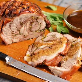 Porchetta Style Roast Pork Shoulder