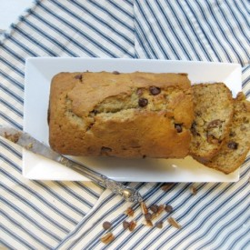 Banana Bread with Pecans and Chocolate Chips