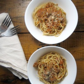 Spaghetti Bolognese with Turkey