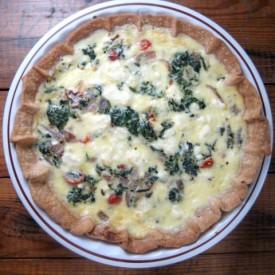 Quiche w. Spinach, Feta and Tomato