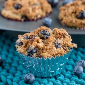 Skinny Blueberry Cheesecake Muffins