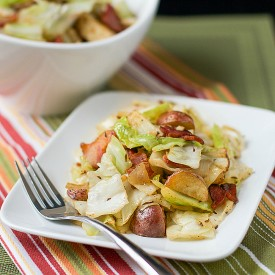 Cabbage w/Bacon & Roasted Potatoes
