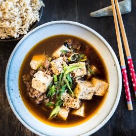 Ma Po Tofu with Ground Lamb