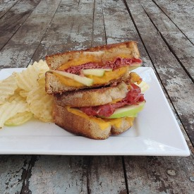 Cheddar, Apple Pastrami Grilled Cheese