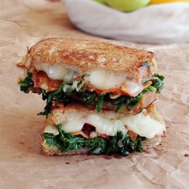 Garlicky Grilled Cheese with Bacon
