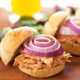 """""""Pulled"""" BBQ Chicken Sandwiches"""