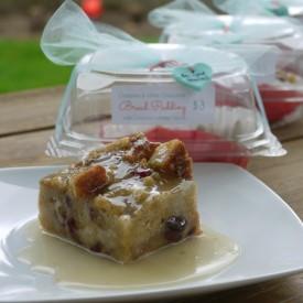 Cranberry W-Chocolate Bread Pudding