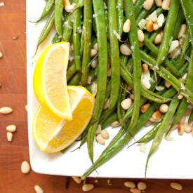 Green Beans with Toasted Pine Nuts