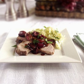 Pork Tenderloin w/Roasted Cherries