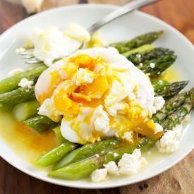 Roasted Asparagus with Lemon & Feta