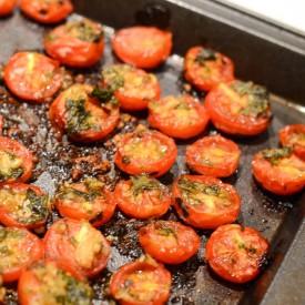 Roasted Tomato Basil Salad