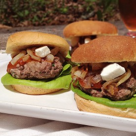 Spiced Sliders with Date Ketchup