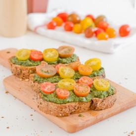 Vegan Pesto Bruschetta