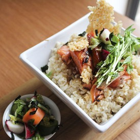 Brown Rice Bowl with Ocean Trout
