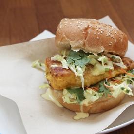 Fish Burgers with Coconut Mayonnais