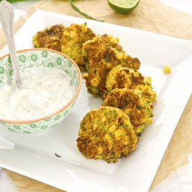 Zucchini and Roasted Corn Fritters