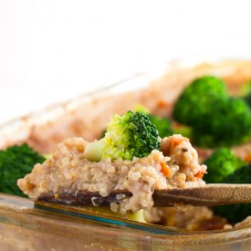 Vegan Quinoa and Broccoli Casserole