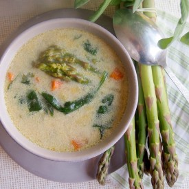 Asparagus And Spinach Spring Soup