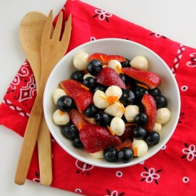 Red, White and Blue Fruit Salad
