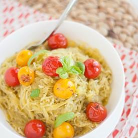 Paleo Spaghetti Squash with Pesto