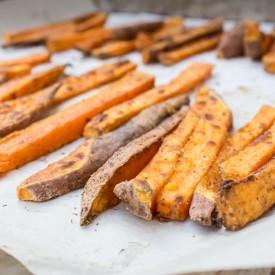 {Crispy} Sweet Potato Fries