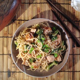 Sweet Sesame Noodles with Chicken